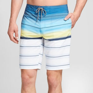 "Men's Striped 10"" Rapido Boardshorts"